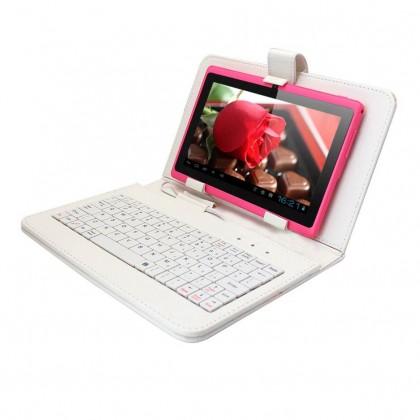 Tablet Keyboard Case Wit voor 7 inch Telegraaf Tablet €22,95
