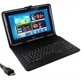 7 inch Tablet Map Micro USB Keyboard zwart