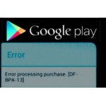 Google Play Error (DF-BPA-13) Serverfout