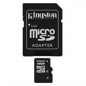 Kingston 16GB micro SD met SD adapter