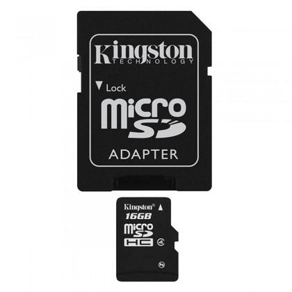 Kingston 16GB micro SD met SD adapter
