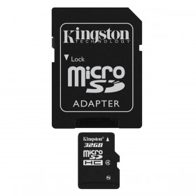 Kingston 32GB micro SD met SD adapter