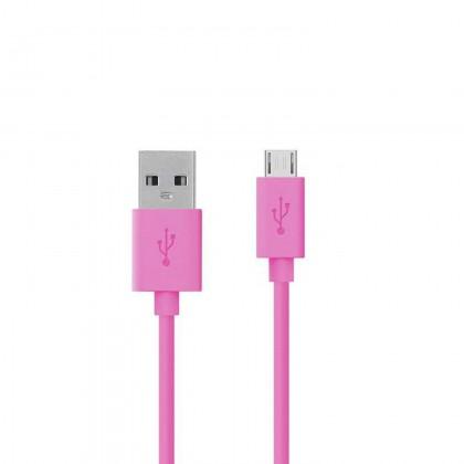 USB 2.0 micro USB kabel Roze